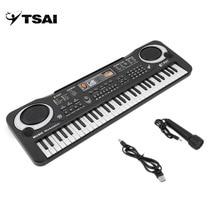 TSAI РОССИЯ 61 клавиша Цифровая музыка электронная клавиатура доска игрушка подарок Электрический пианино орган для детей многофункциональный и нежный