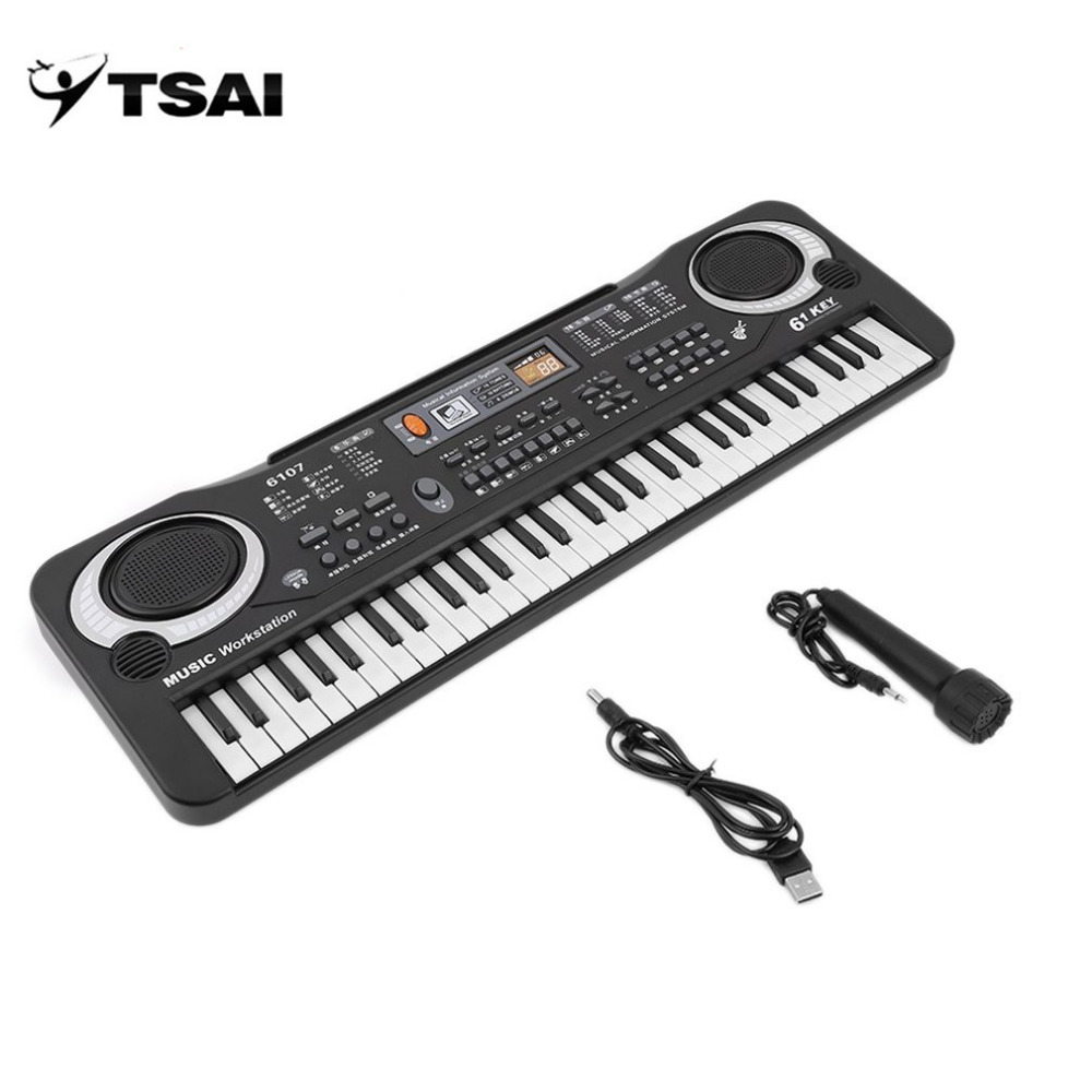 TSAI Russia 61 Keys Digital Music Electronic Keyboard Board Toy Gift Electric Piano Organ For Kids Multifunction And Delicate