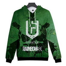 New Rainbow Six Siege 3D Hoodies Sweatshirt Men/Women 3D printing Hoodie sudaderas para hombre Casual Male Streetwear Clothes(China)