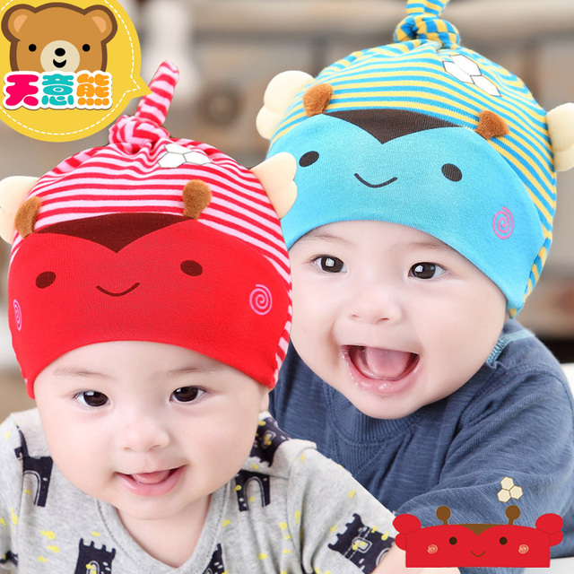 600402c1d 6 12 months old baby hat autumn and winter newborn 0 1 year old 100 ...