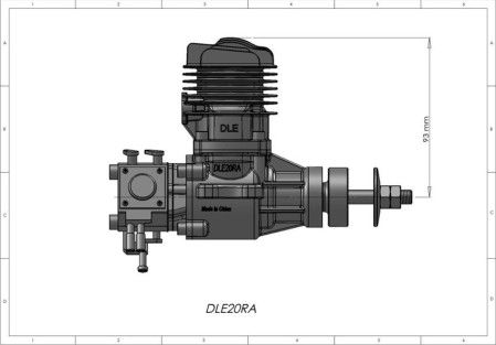 DLE 20 Motor GAS origjinal RA për shitje të nxehtë modeli aeroplan - Lodra me telekomandë - Foto 4
