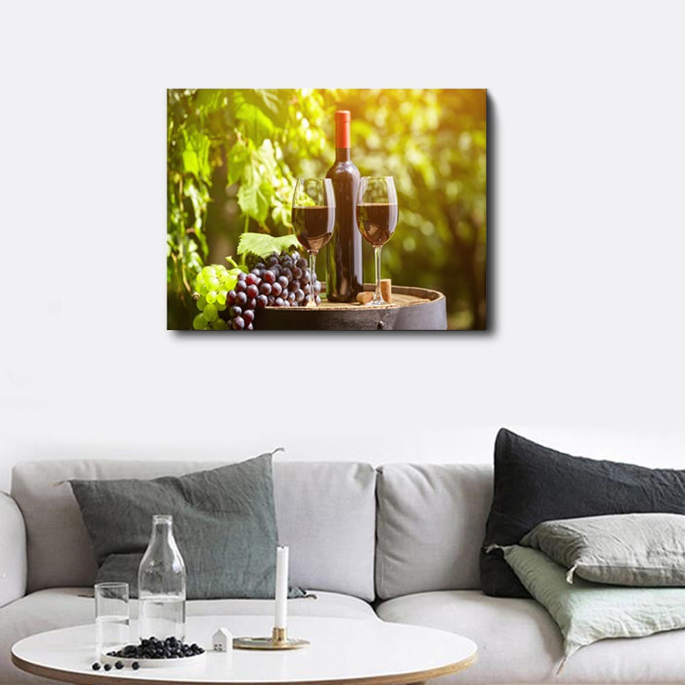 Laeacco Canvas Calligraphy Painting Red Wine Cup Bottle Posters and Prints Wall Art Set Bar Dinning Room Kitchen Decor Pictures in Painting Calligraphy from Home Garden