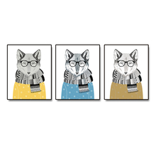 Watercolor Mr. Fox Nordic Posters Pictures Wall Artwork Canvas Painting Calligraphy Prints Decoration For Living Room Bedroom