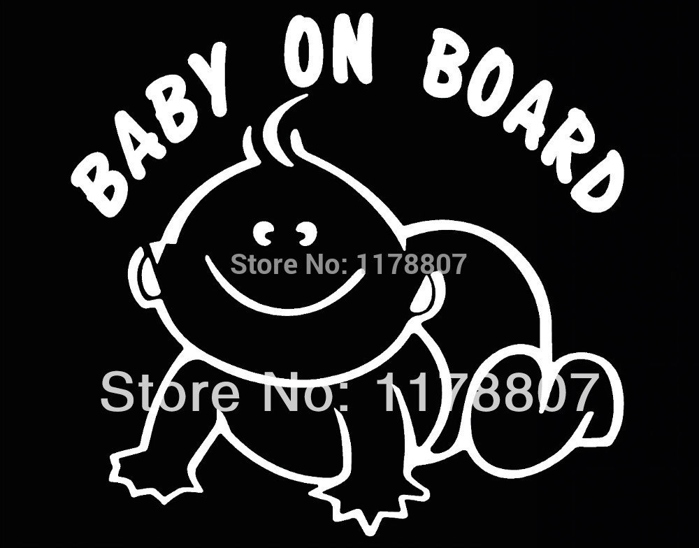 Baby On Board Decal Sticker Car Window Truck Bumper Auto Door Kayak Sign SUV Truck Van Baby Safety Seat Baby in Car