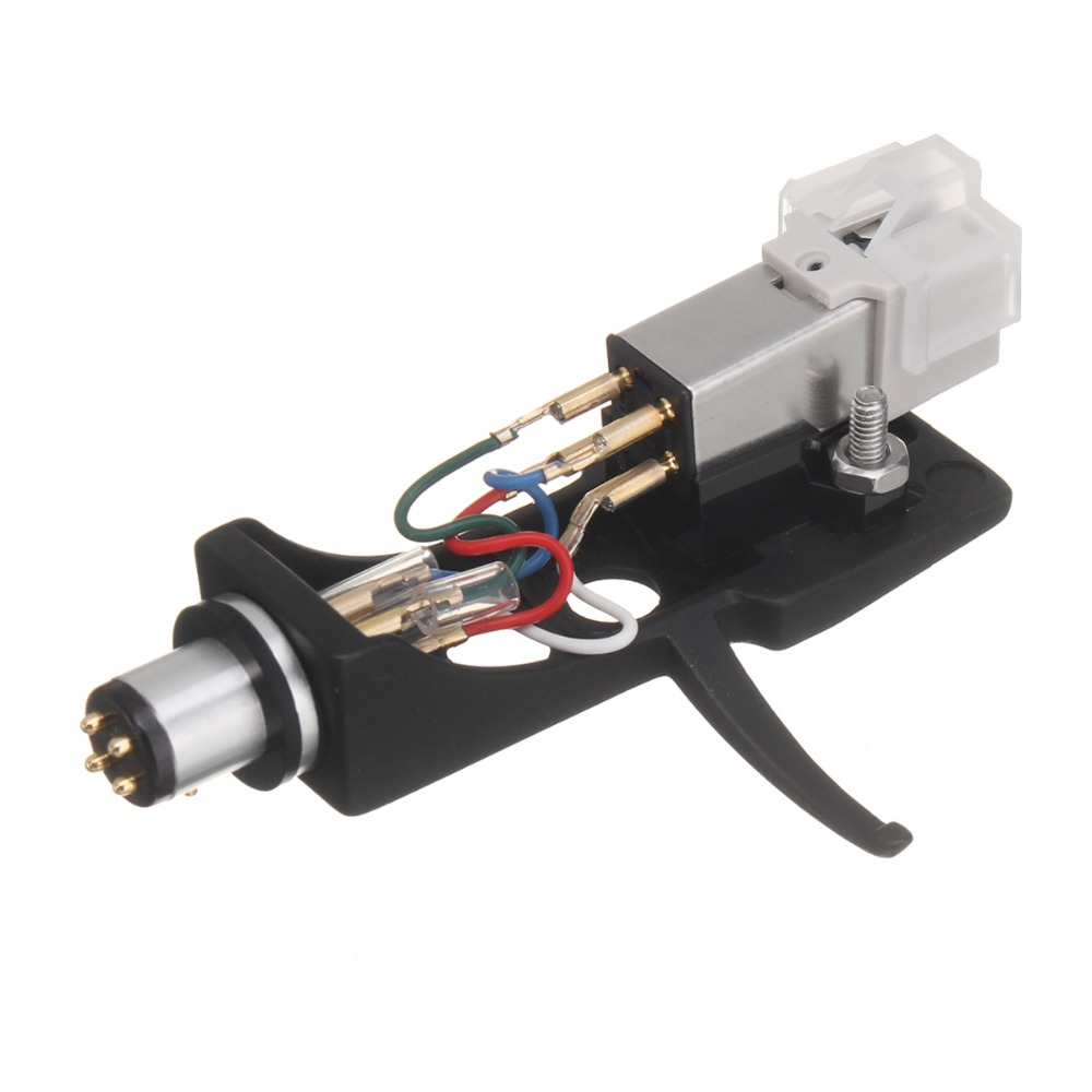 LEORY 1Pcs Magnetic Cartridge Stylus With Turntable Headshell 4 Pin Contacts For Phonograph Turntable Gramophone LP Vinyl Needle