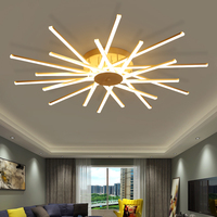Living Room Bedroom Study Room Led Chandelier Surface Mounted Aluminum White Home Deco Ceiling Chandeliers Free