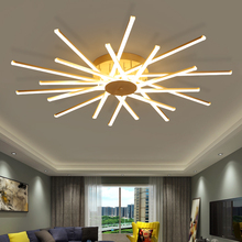 Living Room Bedroom Study Room Led Chandelier Surface Mounted Aluminum White Home Deco Ceiling Chandeliers Free Shipping