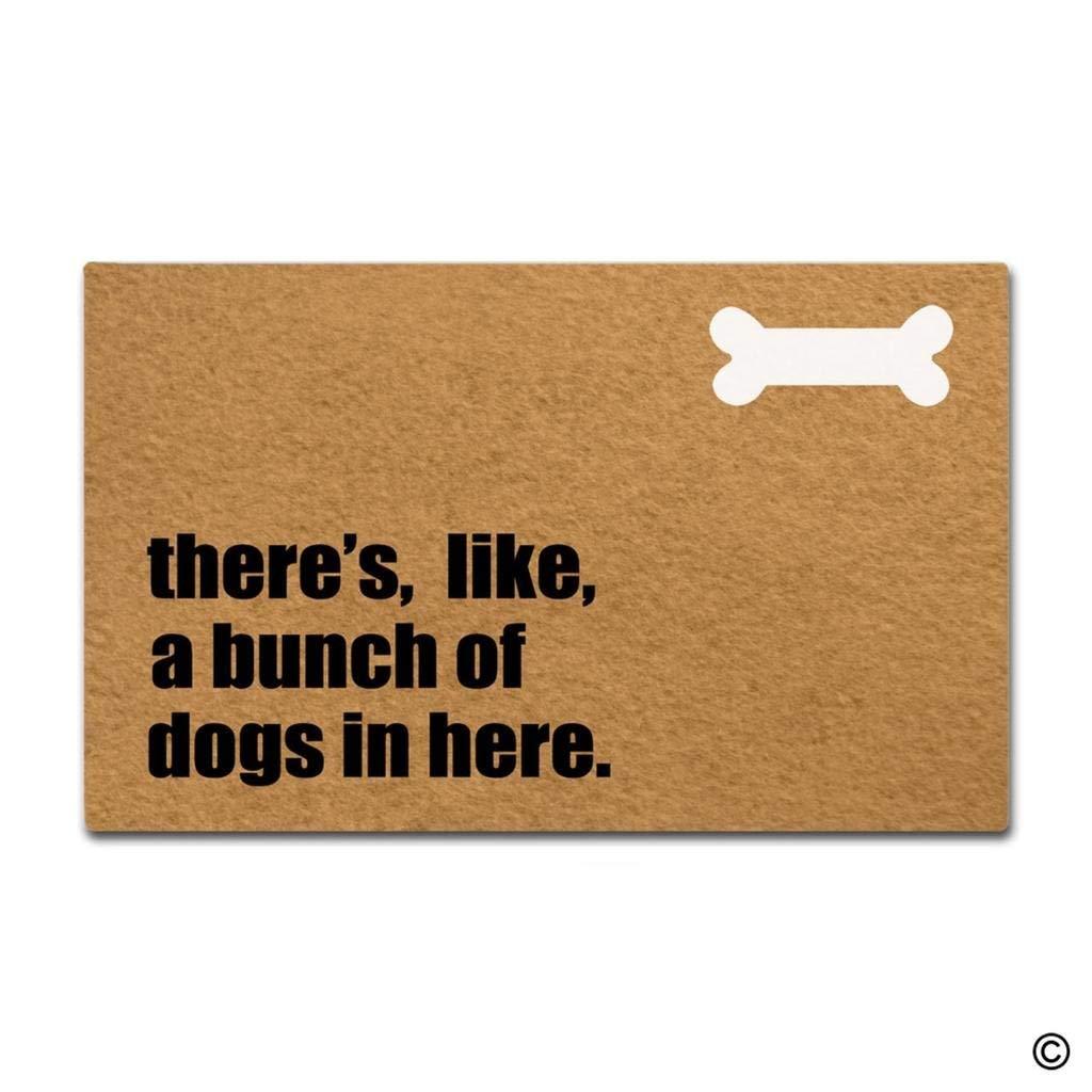 Felpudo alfombra del piso hay, como, un montón de perros en aquí Funny puerta interior al aire libre Doormat decorativo superior