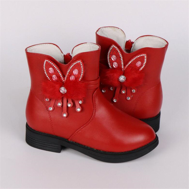 02501115e Winter Fashion child girls snow boots shoes warm plush soft bottom baby  girls boots comfy kids Rhinestone winter snow boot