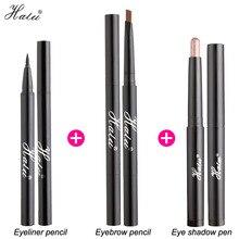 HaLu макияж набор Комплект Бровей подводка для глаз тени для век ручка сочетание глаз макияж Прочный водонепроницаемый для подарок на день ро...(China (Mainland))