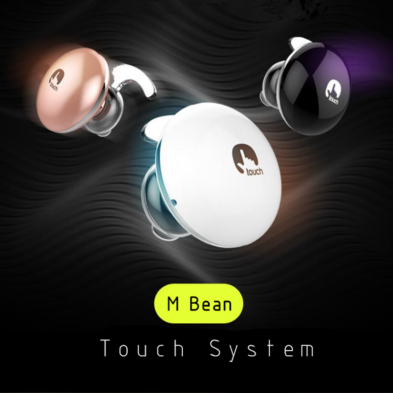 2016 Touch Bluetooth 4.1 Headphone Wireless Headset Noise Cancelling With Microphone Stereo Earphone for Xiaomi Samsung iPhone wireless bluetooth headset mini business headphones noise cancelling earphone hands free with microphone for iphone 7 6s samsung