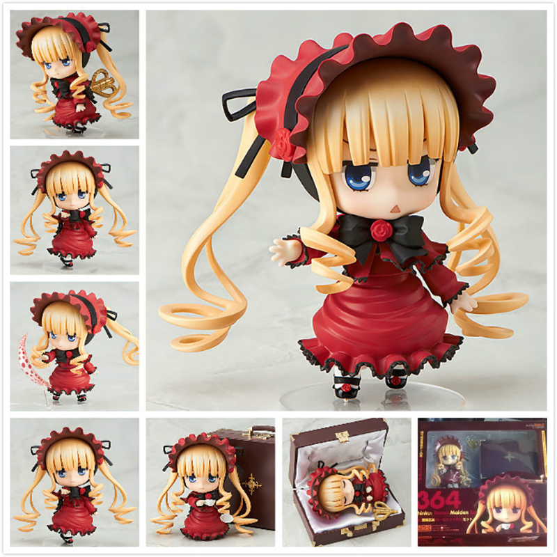 Anime Rozen Maiden Nendoroid Shinku Action Figure 364# Shinku Doll  PVC Action Figure Collectible Model Toy Doll 10cm KT3717 nendoroid anime sword art online ii sao asada shino q version pvc action figure collection model toy christmas gifts 10cm