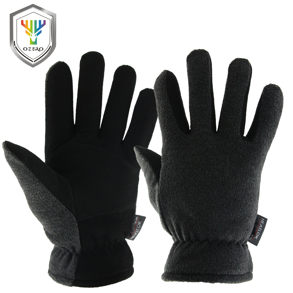 OZERO Men's Work Driver Gloves Deerskin Winter Warm Windproof Security Protection Wear Safety Working For Men Woman Gloves 8007