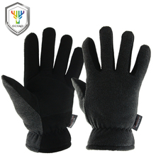 OZERO Men's Work Driver Gloves Deerskin Winter Warm Windproof Security Protection Wear Safety Working For Men Woman Gloves 9009