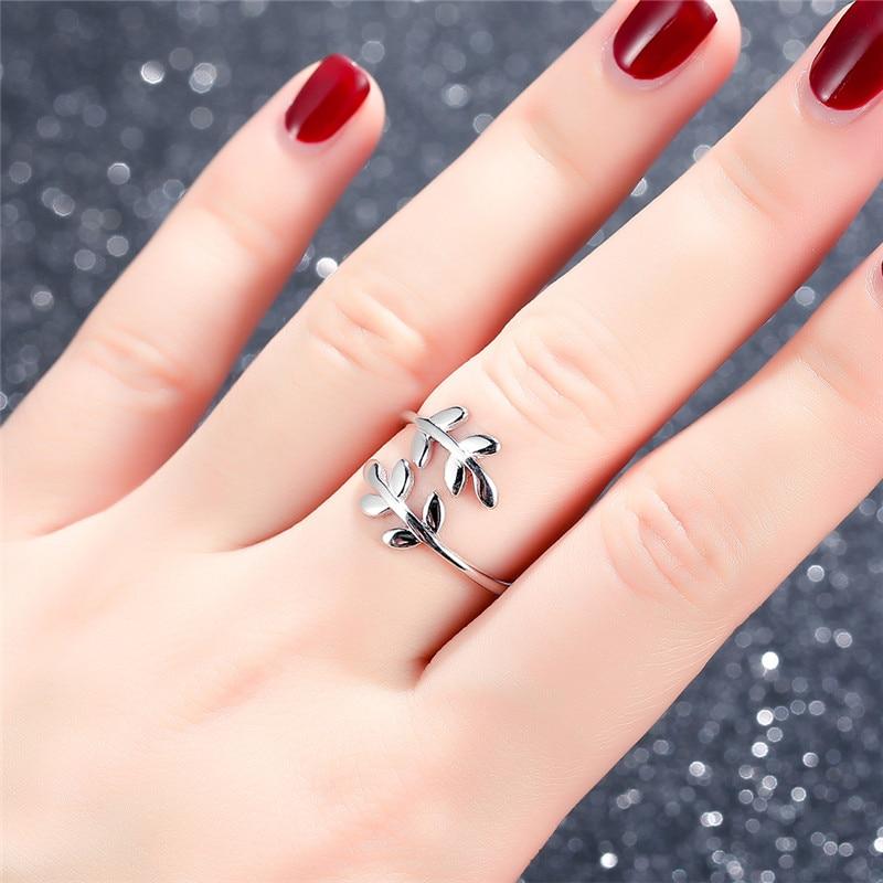 V-YA-Vintage-925-Sterling-Silver-Leaves-Ring-Adjustable-Size-Thai-Silver-Women-Rings-Fashion-Wedding (2)