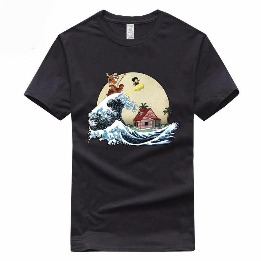 Euro Size 100% Cotton Dragon Ball Z Super Saiyan Goku Vegeta DragonBall   T  -  shirt   Summer Short Sleeve O-Neck   T     Shirt   GMT300009