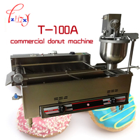 Gas and Electric Automatic Donut Machine T 100A Commercial Donut Machine Fryer Maker_Donut stainless steel Doughnut makers 1PC