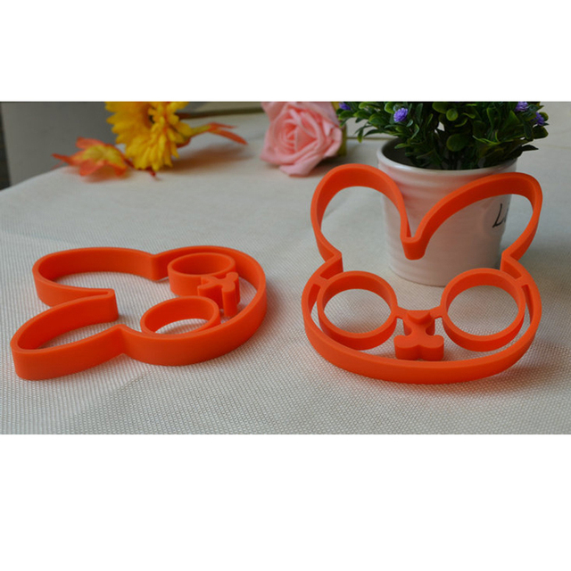 Silicone kitchen gadgets Bunny Cartoon Egg Frame
