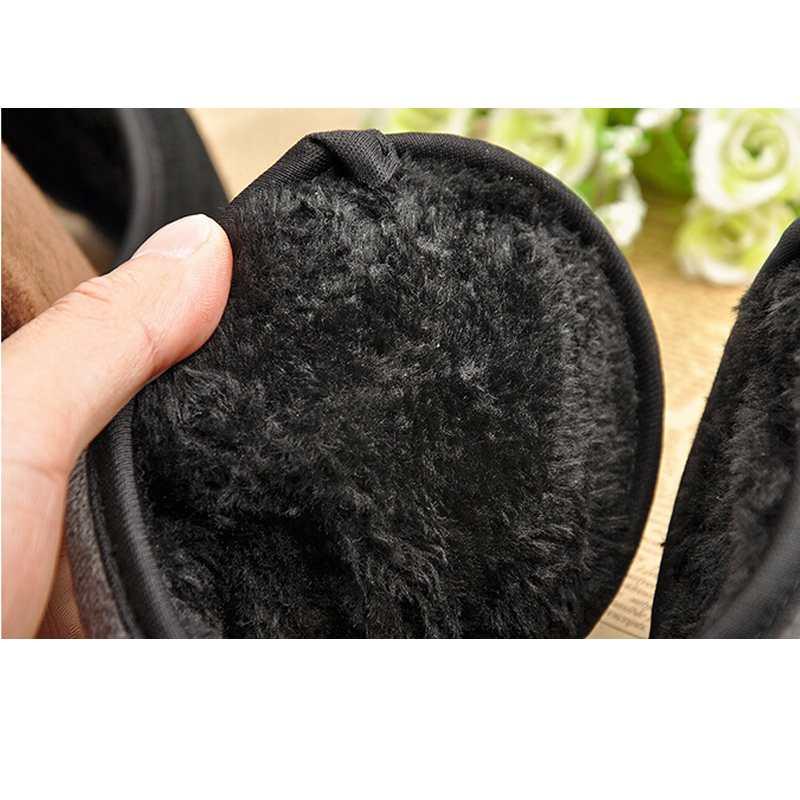 HOT Mens Black Fleece Earmuff Winter Warm Earmuff Wrap Band Grip Earlap