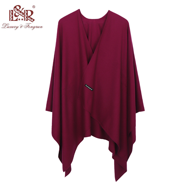 2019 140*140mm Winter Square female Poncho Cashmere Wool Women Poncho Scarf  Solid Foulard Femme Pashmina Shawl Winter Excharpe