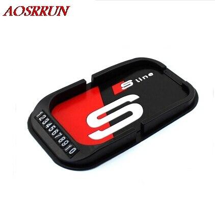 3D Car <font><b>phone</b></font> holder skid pad for Audi A1 A2 A3 A4 A5 A6 A7 A8 A9 <font><b>Q1</b></font> Q3 Q5 Q7 R8 TT S3 S5 S6 S7 S8 SQ5 RS5 TT car-styling