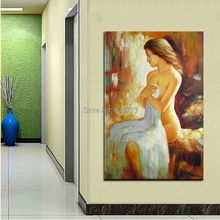 Nude Girl Abstract hand painted oil painting home decoration wall art no framed
