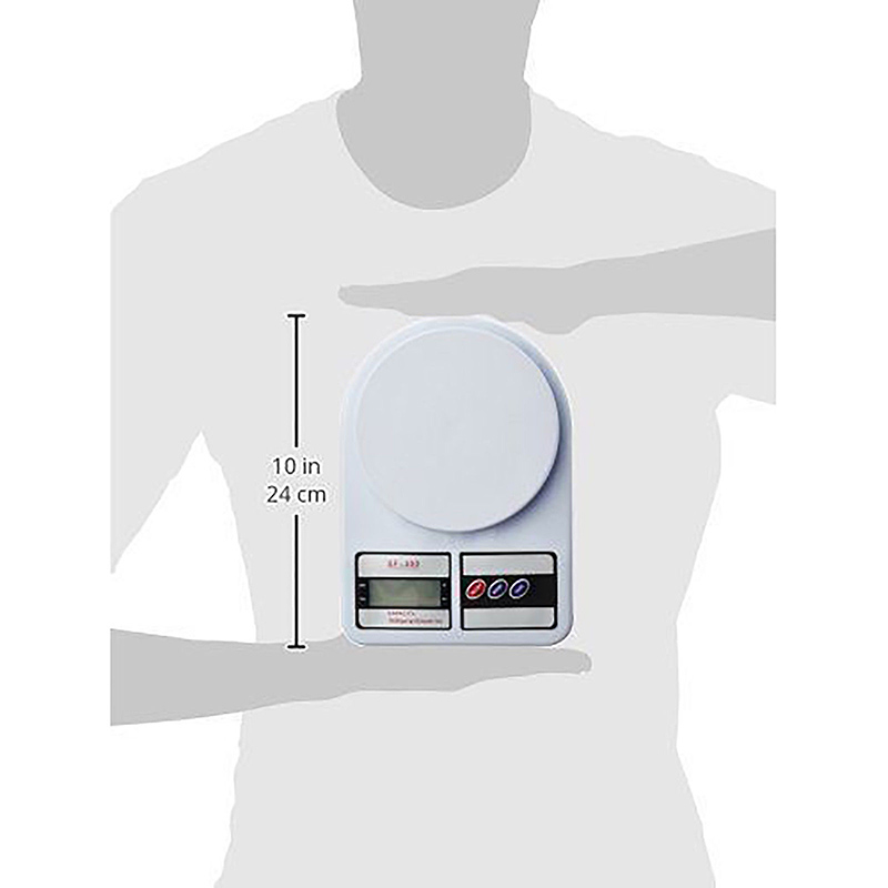 Портативные цифровые весы 10 кг 1 г, электронные весы с ЖК-дисплеем, кухонные весы, почтовые пищевые весы, измерительные весы, весы-4