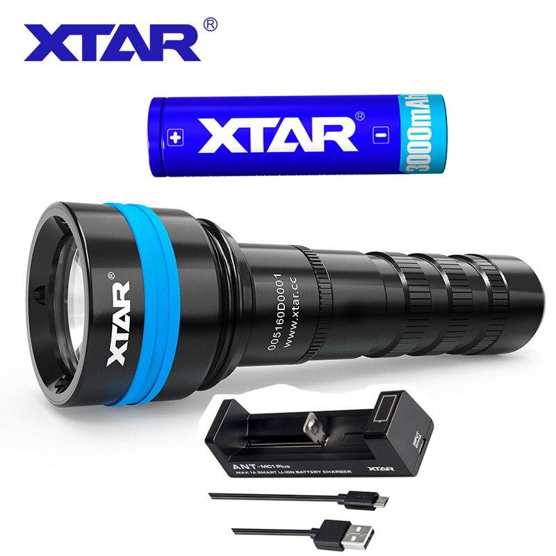 XTAR D06 1600 Full Set Diving Flashlight Cree XHP35 D4 Max 1600 lumen underwater 100m diving