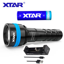 XTAR D06 1600 Full Set Diving Flashlight Cree XHP35 D4 Max 1600 lumen underwater 100m diving torch with battery adapter(China)