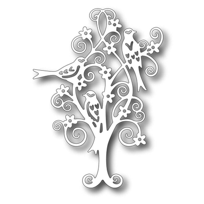 Eastshape Scrolly Bird Tree Metal Cutting Dies New 2019 for Scrapbooking Card Making DIY Album Embossing Crafts Die Cuts