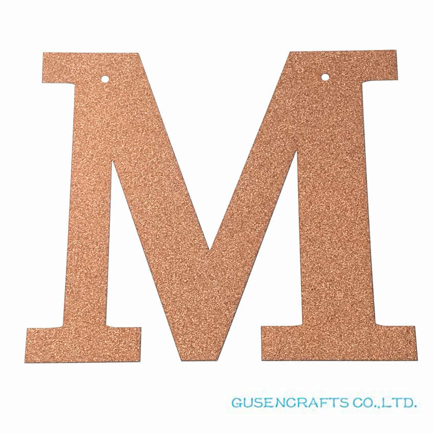 1pcs/lot 13cm Custom Personalized Word Garland Coral Glitter Paper Letter Banner for Photo Backdrop Birthday Party Decorations