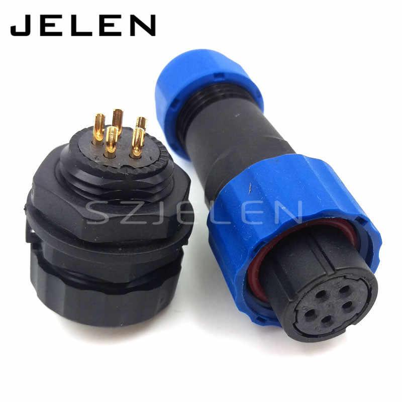 SD16 Wasserdichten Stecker 2 3 4 5 6 7 9pin buchse (Männlich) und stecker (weiblich) IP68, SP16 LED panel mount automotive stecker
