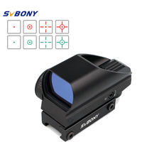 SVBONY Green Red Tactical Dot Sight Coated Optic Tactical 5 Levels Of Brightness 4 Reticle Black