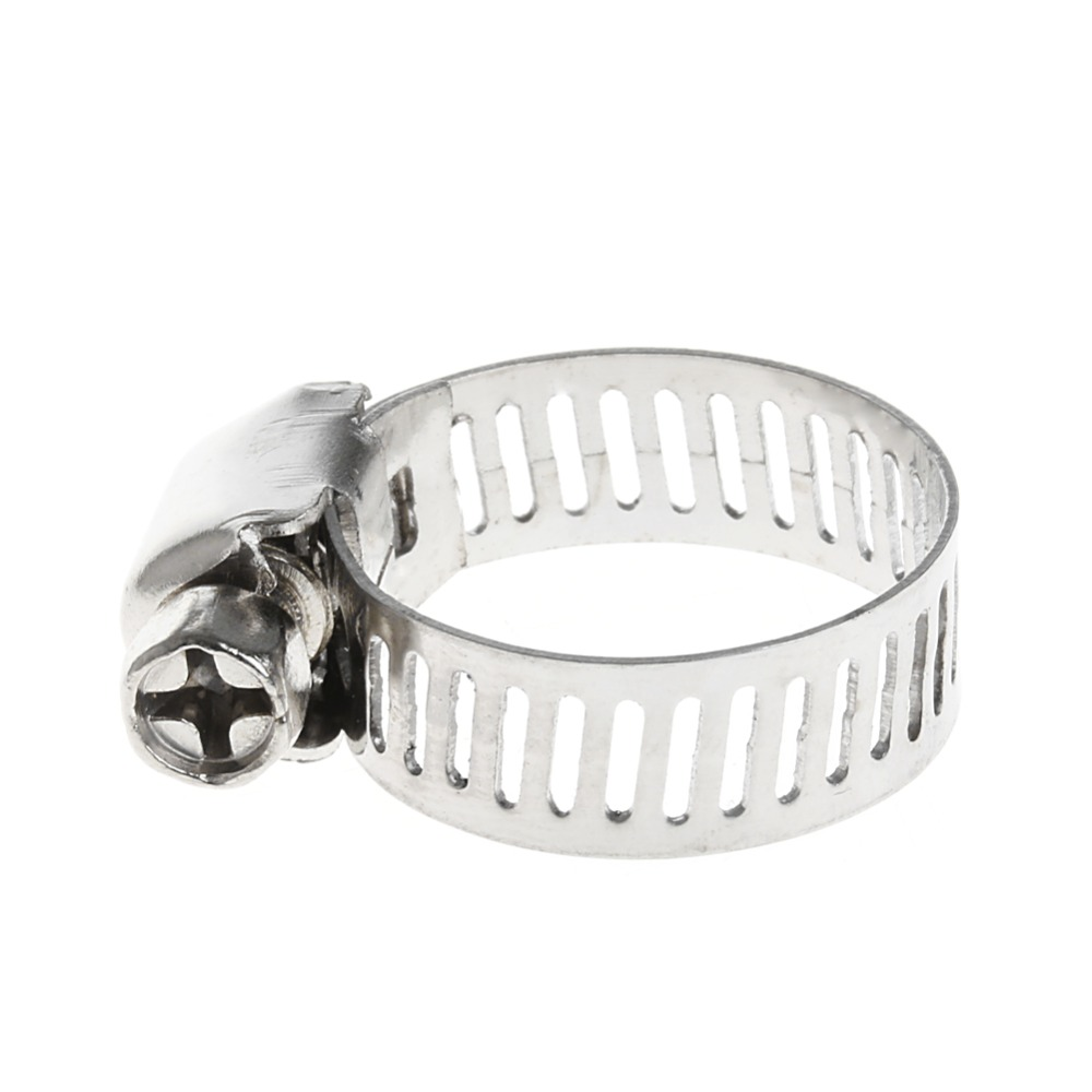 """10* 3//8/""""-5//8/"""" Adjustable Stainless Steel Drive Hose Clamp Fuel Line Worm Clips"""