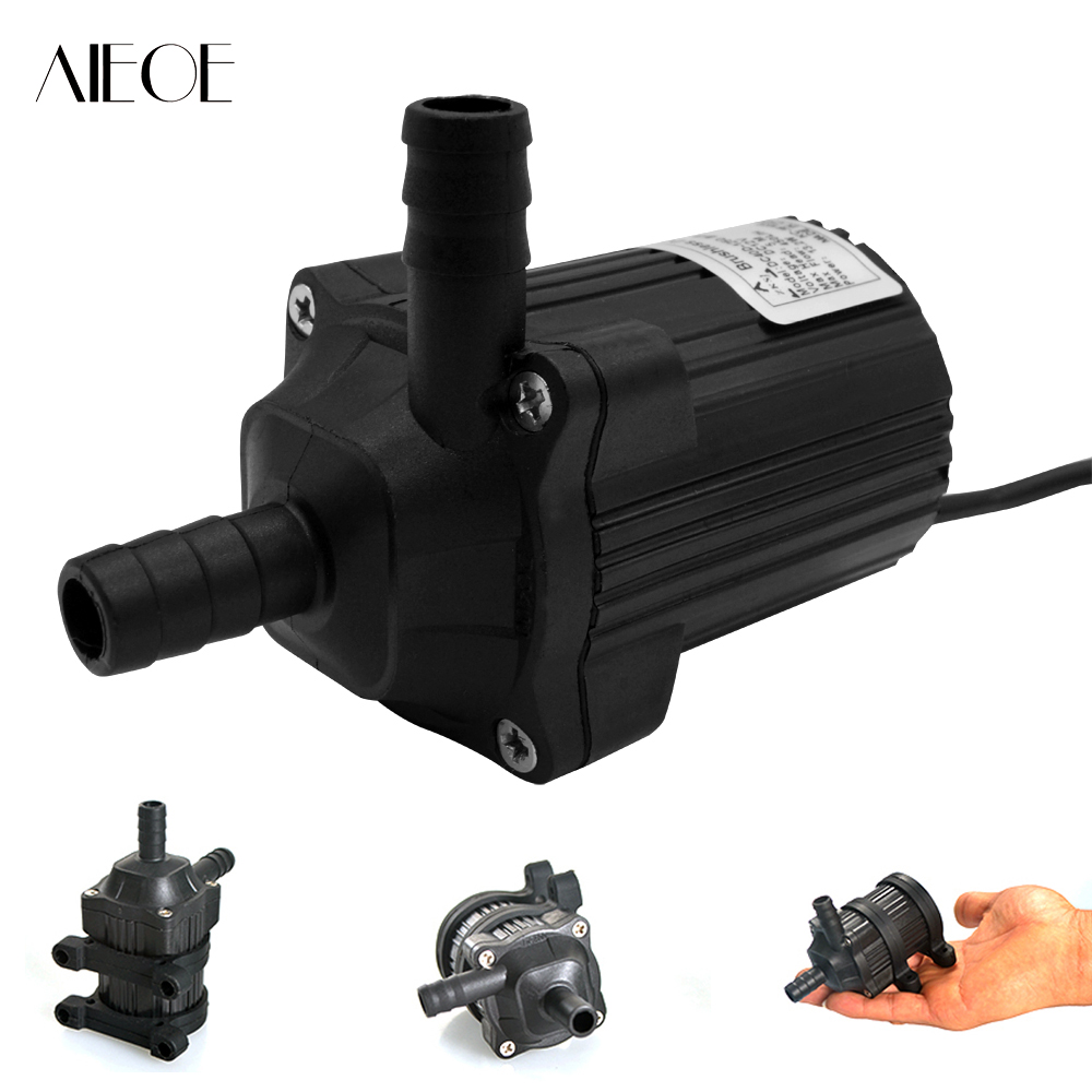 AIEOE 24V 550L/h 8m (26ft) Micro Electric Brushless Water Pump Motor Submersible Pumping for Aquarium Fish Fountain Garden House цена