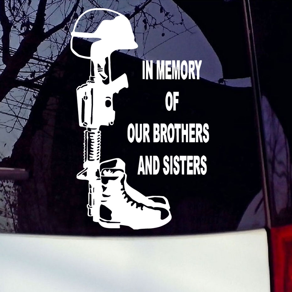 Sticker design for car online - Car Styling Accessories In Memory Of Our Brothers And Sisters Marines Army Navy Car Sticker Removable
