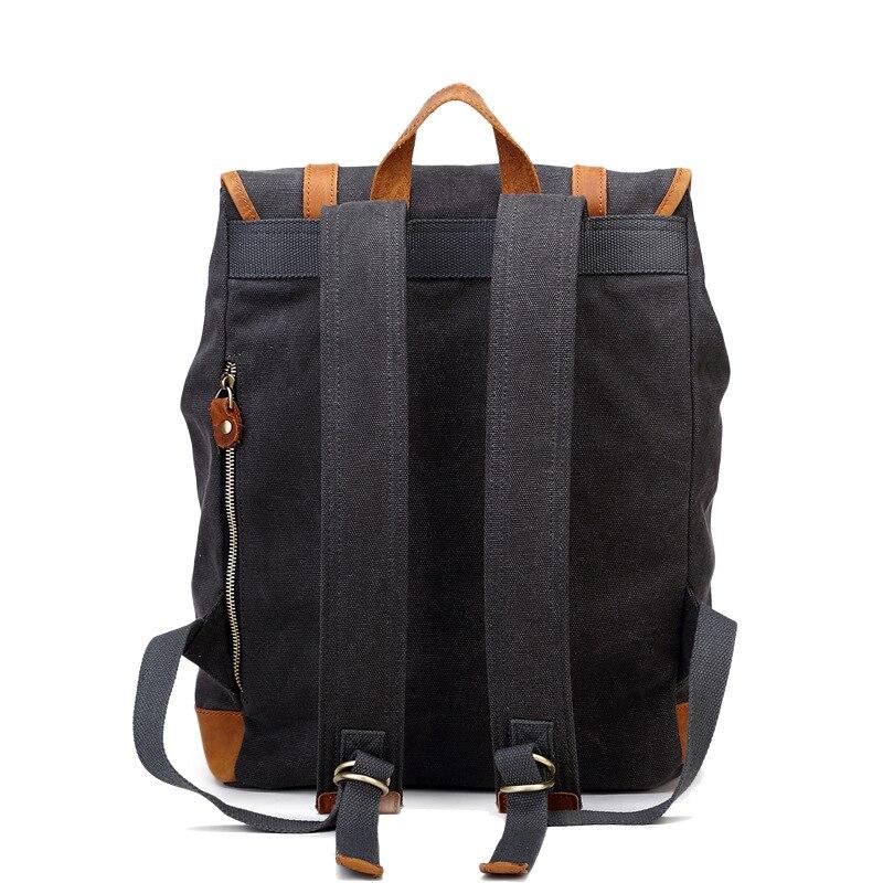 AETOO coton rétro eau toile hommes femmes sac à dos épaules ordinateur sac hommes sac à dos voyage loisirs bonne qualité sacs à dos - 2