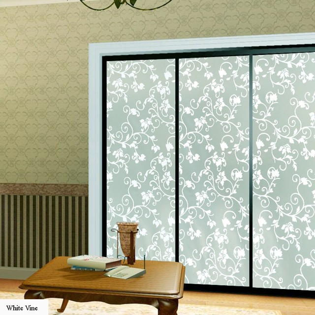 90x500cm top grade self adhesive decorative frosted privacy glass window film decals