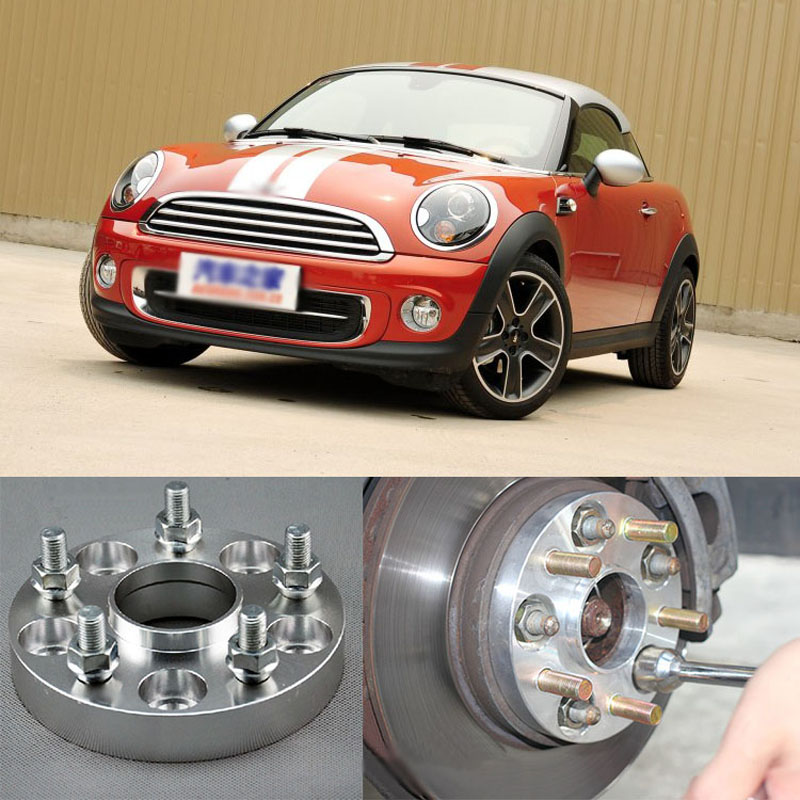 Teeze 4pcs New Billet 4 Lug 12*1.5 Studs Wheel Spacers Adapters For BMW MINI Coupe 2012-2015/Roadster 2012-2015 4pcs new billet 5 lug 14 1 5 studs wheel spacers adapters for bmw x5 e70 2007 2013