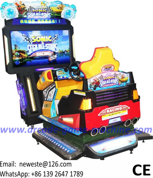55 Inch 3D Video Coin Operated Arcade Simulator Driving