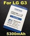 Nuevas adquisiciones 5300 mah batería bl53yh bl-53yh para lg g3 d858 d855 D850 D859 F400 D857 F460 F470 F400L D830 D851 VS985 BL 53YH