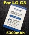 Os recém-chegados 5300 mah bl53yh bl-53yh para lg g3 d855 d858 bateria D857 D859 F400 D850 F460 F470 F400L D830 D851 VS985 BL 53YH