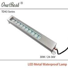 HNTD 24V/36V TD43-30W Led Metal Panel Light CNC Machine Tool Waterproof Explosion-proof Led Spotlight work light Free shipping