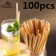 100pcs 20cm Wheat Straw 100% Natural Biodegradable Straws Environmentally Friendly Portable Drinking ECO