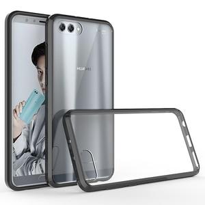 Image 1 - Huawei honor view 10 용 소프트 실리콘 tpu/pc 케이스 huawei honor v10 용 고급 fundas capa shockproof shell clear 하드 백 커버