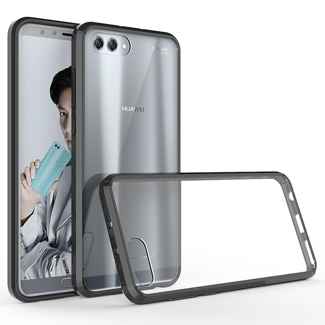 Huawei honor view 10 용 소프트 실리콘 tpu/pc 케이스 huawei honor v10 용 고급 fundas capa shockproof shell clear 하드 백 커버