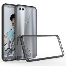Yumuşak Silikon TPU/PC Durumda Huawei Onur için Görünüm 10 Lüks Fundas Çapa Darbeye Dayanıklı Kabuk Temizle Sert arka kapak için huawei Onur V10
