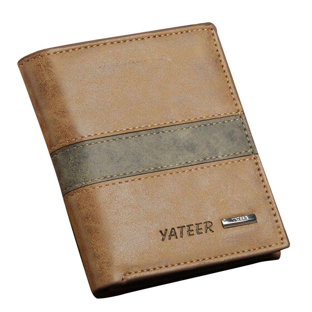 Fashion Men Wallets PU Leather ID Card Holder Billfold Coin Purse Wallet Carteira Feminina Men Wallets