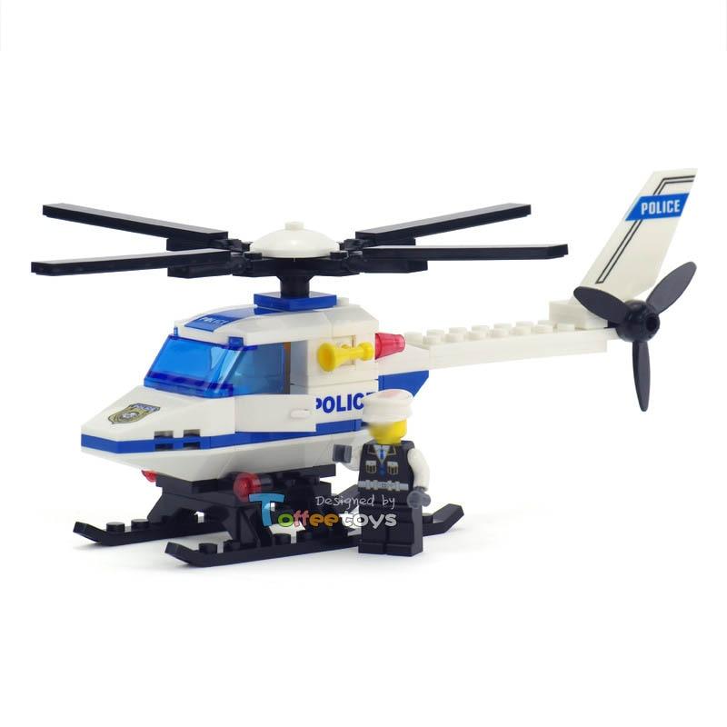 70pcs City Police Building Blocks Helicopter Bricks