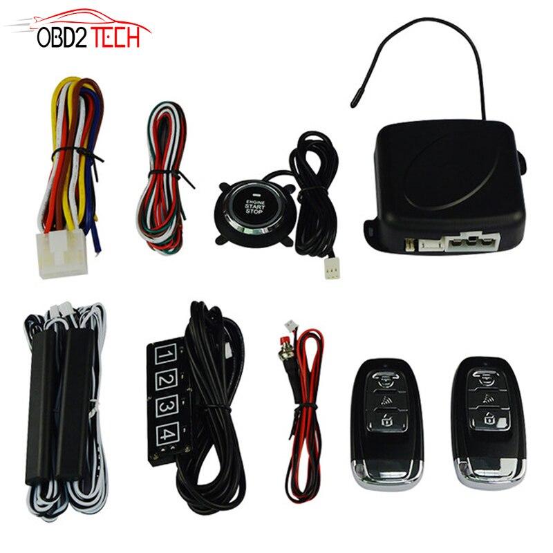 Système automatique de moteur d'arrêt de démarrage avec code clavier voiture SUV PKE entrée sans clé moteur de démarrage système antivol de voiture